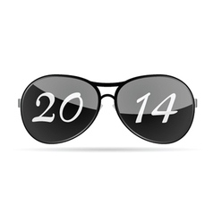 Sunglass with 2014 vector