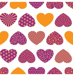 Seamless background with colorful hearts vector