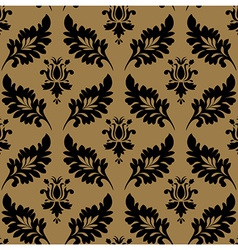 Vintage pattern seamless wallpaper vector