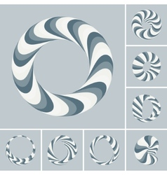 Set of abstract 3d icons such emblems vector