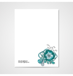 Graphic design letterhead with hand drawn ornament vector