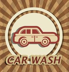 Car wash digital design vector image