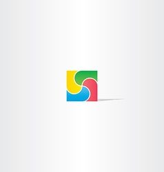 Colorful square business logo design abstract icon vector
