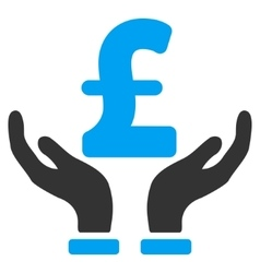 Pound insurance hands flat icon symbol vector