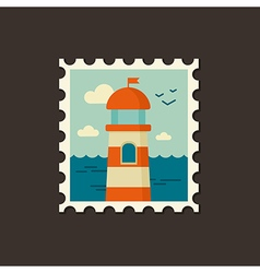 Lighthouse icon summer vacation vector