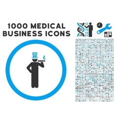 American capitalist icon with 1000 medical vector