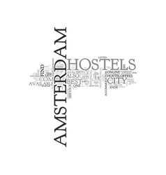 Amsterdam holland basic facts text word cloud vector