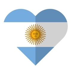 Argentina flat heart flag vector image