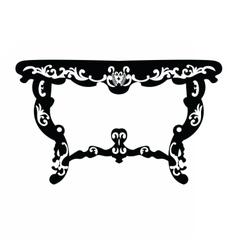 Baroque Rich table vector image vector image