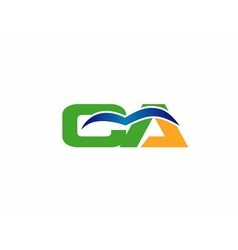 Ca company group linked letter logo vector