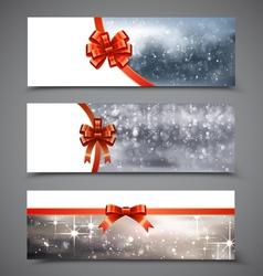 Christmas Banners Set 6 vector image