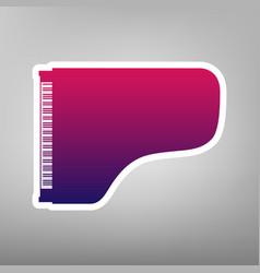 Concert grand piano sign purple gradient vector