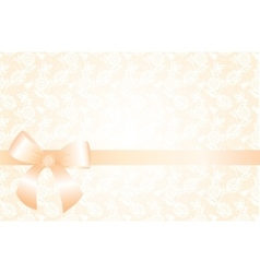 Delicate beige background with lace floral pattern vector image vector image