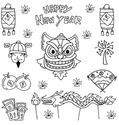 element Chinese New Year vector image vector image