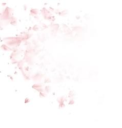 Falling sakura pink petals background EPS 10 vector image vector image