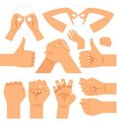 Funny hand gestures set vector