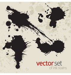 Ink stains set 4 vector image vector image