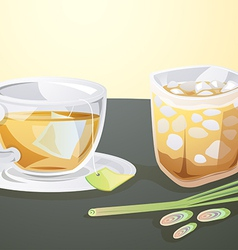 Lemon grass juice vector