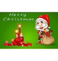 Merry Christmas Santa vector image