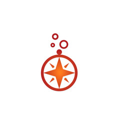 north star compass logo vector image