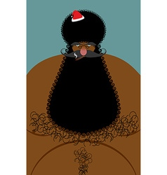 Santa claus american african naked naked old vector
