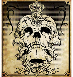 Skull frame set easy to edit all fonts are free vector