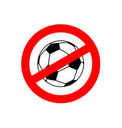 Stop football prohibited team game red vector