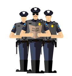 Three police officers were arrested Police vector image