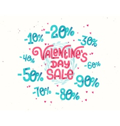 Valentines day sale discount percentages vector