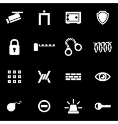 white security icon set vector image vector image