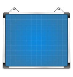 Whiteboard with blueprint vector