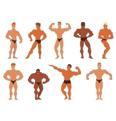 Mens physics bodybuilders vector