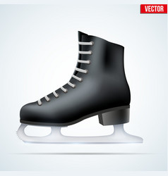 Black classic figure ice skates vector