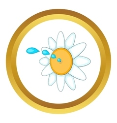 April fools day flower icon vector