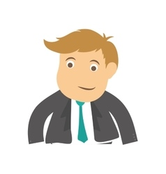 Successful businessman cartoon vector