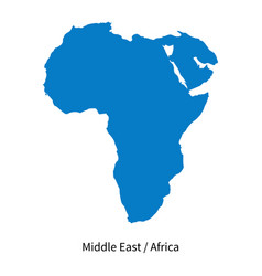 Detailed map of middle east and africa vector