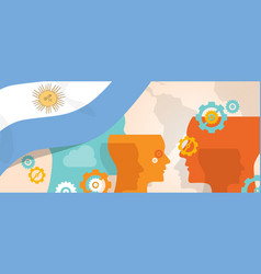 Argentina concept of thinking growing innovation vector