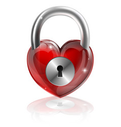 locked heart concept vector image