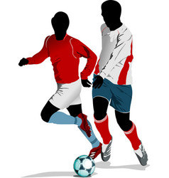 Soccer players colored for designers vector