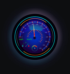 speedometer that showing speed of car and fuel vector image