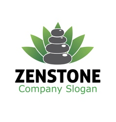 Spa zen stone design vector