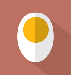 Boiled egg flat design icon vector