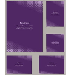 Orchid page corner design template set vector