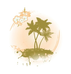 summer background with hibiscus vector image