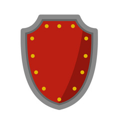 Army protective shield icon flat style vector