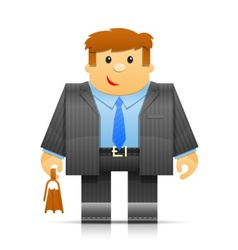 businessman origami toy vector image vector image