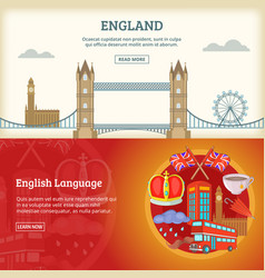 England banner or poster set vector