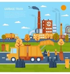 Garbage truck concept vector