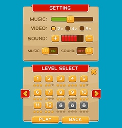 Interface buttons set for games or apps4 vector image vector image