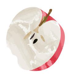 Isolated apple cut vector